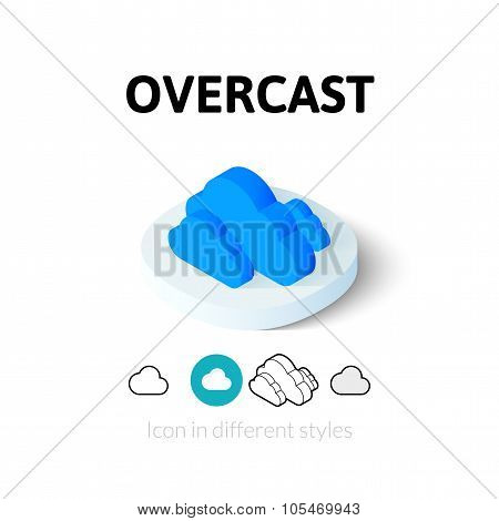 Overcast icon in different style