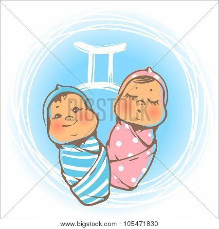 Baby zodiac Geminy