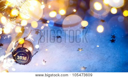 Art Christmas And 2016 New Year Party Background