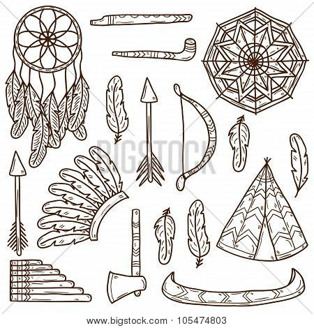 Injun hand drawn icons