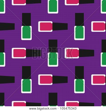 Nail Polish Seamless Pattern