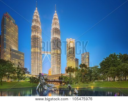 Modern architecture and city park, Malaysia