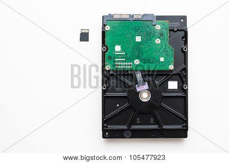 Sd Card Next Ot Hdd Hard Disk Drive