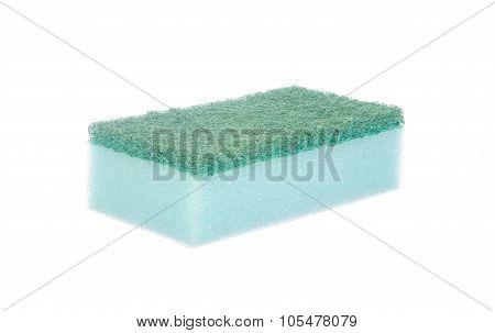 Dish Washing Sponge Isolated On White