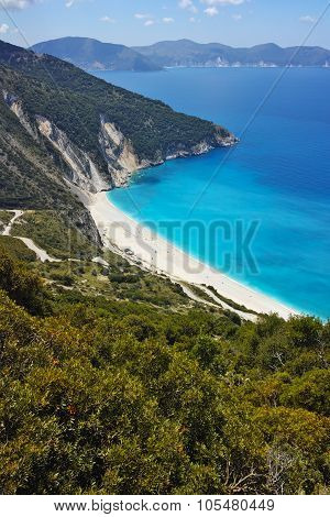 Amazing panorama of Myrtos beach, Kefalonia
