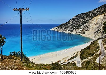 Landscape of Myrtos beach, Kefalonia, Ionian islands