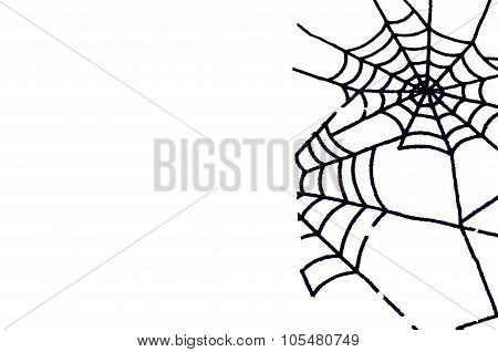 Minimalism Background Isolated Spiderweb With Left Copy Space