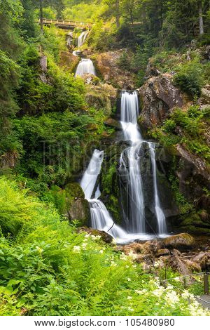 Triberg Falls is one of the highest waterfalls in black forest, Germany