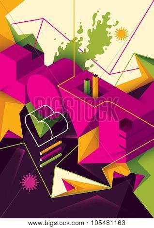Abstract love background. Vector illustration.