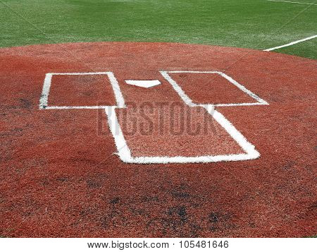 Baseball - Home Plate And Batter's Box