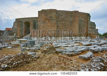 ancient ruins of Roman Odeon, Patras, Peloponnese