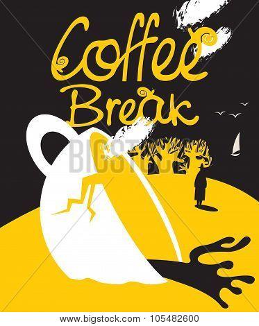 Broken Cup Of Coffee