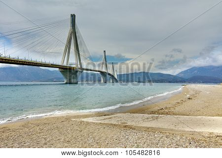The cable bridge between Rio and Antirrio, Patra