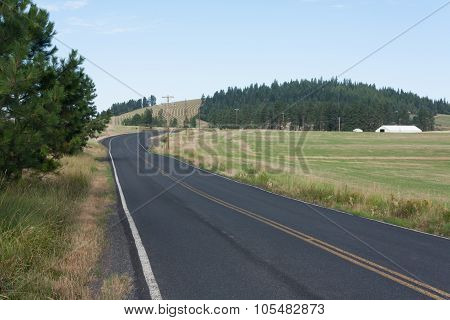 Road to nowhere in northern Idaho