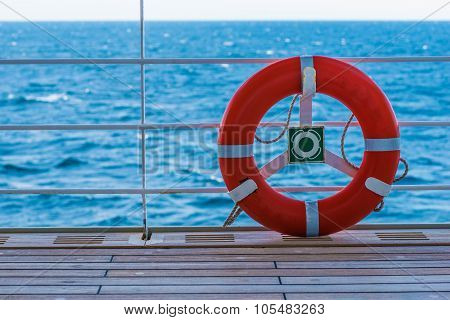 Lifebuoy Lifering On A Boat