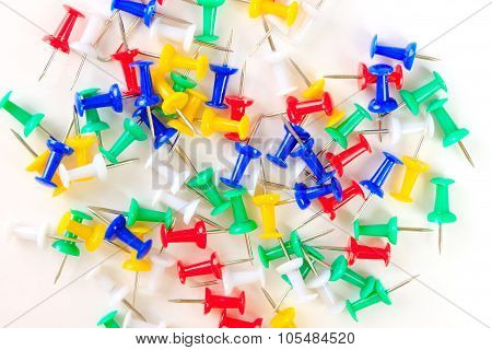 Background Colored Drawing Pins
