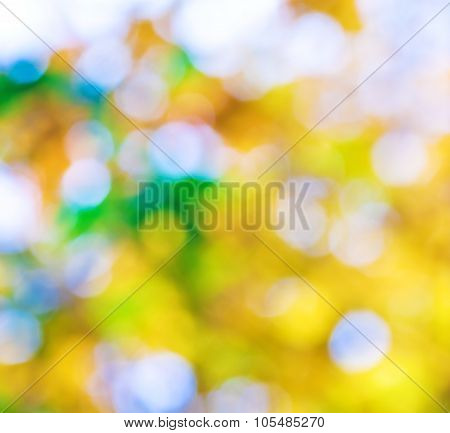 Abstract Background For Your Design In Gold, Green And Blue Colors