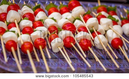 Tomato And Mozzarella Caprese Skewers
