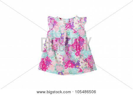 Little Girls  Cotton Bright Multi-colored Motley Light Blouse