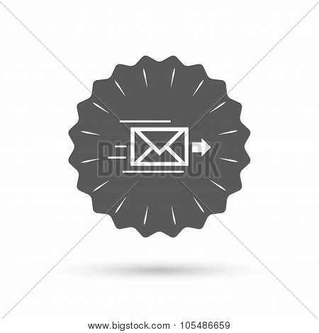 Mail delivery icon. Envelope symbol. Message