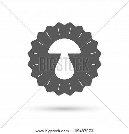Mushroom sign icon. Boletus mushroom symbol.
