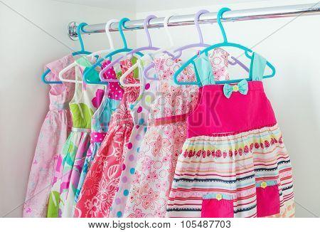 Row Of Little Girl Dresses
