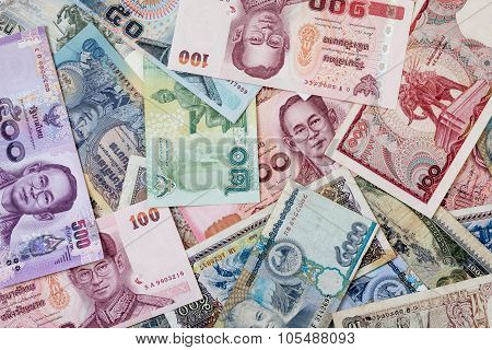 Thailand Money And Laos Money
