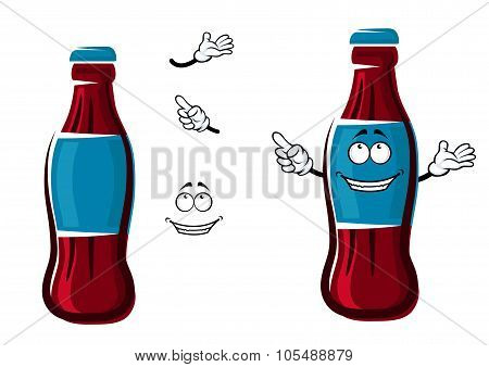 Cartoon isolated sweet soda bottle