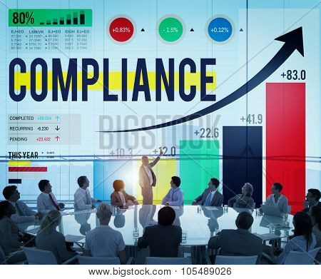 Compliance Rules Law Follow Regulation Concept
