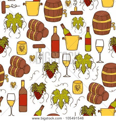 Seamless wine background