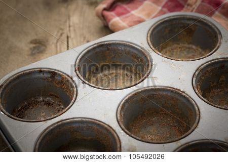Dirty Rustic Muffin Tray