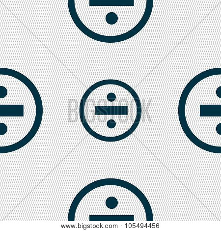 Dividing Icon Sign. Seamless Abstract Background With Geometric Shapes.
