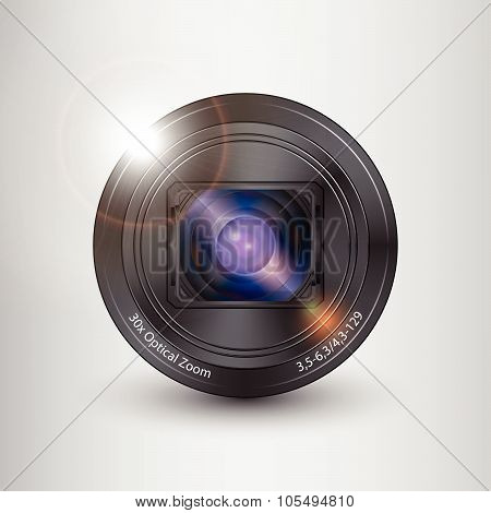 Lens Digital Camera Vector
