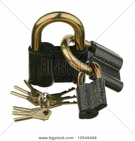 Three padlocks
