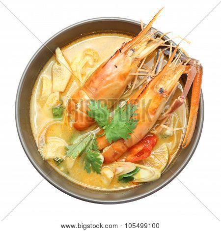Tom Yam Kung Soup. Thai Food