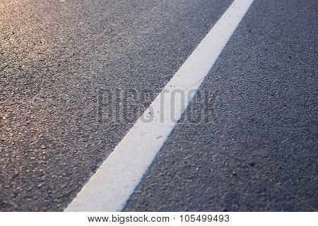 Road With White Line