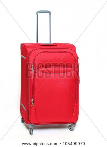 Two travel bags isolated on white background.
