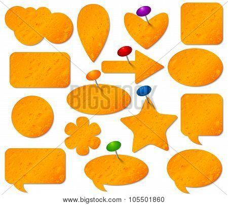 Orange stickers set