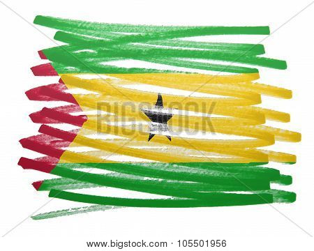 Flag Illustration - Sao Tome And Principe