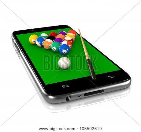 Billiards Game On Smartphone