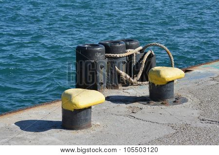 Harbour, Bollard And Rope