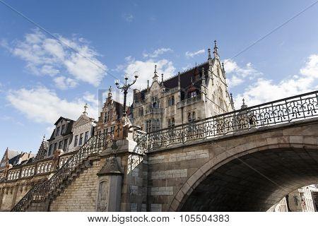 Historic Buildings And Bridge
