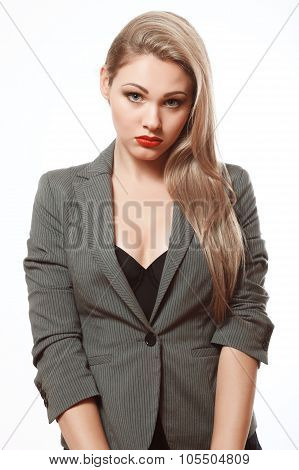 Emotional Blonde In A Business Suit