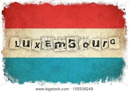 Luxembourg Grunge Flag With Text