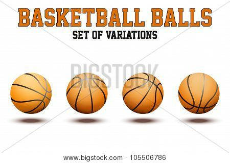 Basketball ball on white bckground