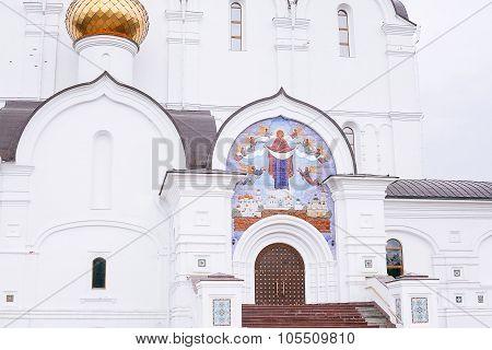 Yaroslavl, Russia - June 28, 2015: View Of The Assumption Church In Yaroslavl, Russia. A Popular Tou