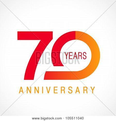 70 anniversary classic logo.