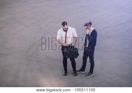 business man outside
