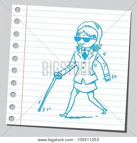 Blind businesswoman