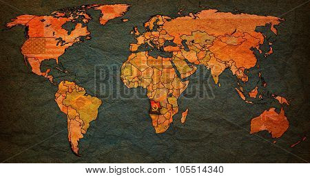 Angola Territory On Actual World Map